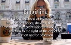 Fangirling - teen dictionary