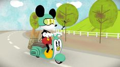 Mickey Mouse scooter ride