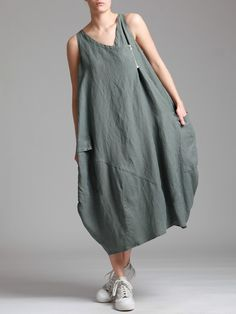TENCEL OVERSIZED BALLOON DRESS - JACKETS, JUMPSUITS, DRESSES, TROUSERS, SKIRTS, JERSEY, KNITWEAR, ACCESORIES - Woman -