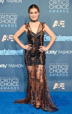 Haley Lu Richardson at the 2016 Critics' Choice Awards, Santa Monica Critic Choice Awards, Critics Choice, Haley Lu Richardson, Red Carpet Gowns, Fashion Art, Celebs, Formal Dresses, Santa Monica, Beauty