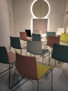 Arper introduced new shell colours for their catifa chair at Orgatec 2016 #Orgatec2016