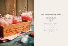 Apple, Ginger, and Cranberry Vodka Cocktail
