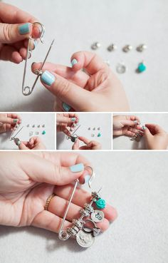 """DIY Wedding // Make an """"old new borrowed blue dress pin"""" with special trinkets!"""