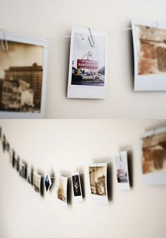 Polaroid wall... Now that I have my new camera! ...went a little crazy.... there are like 4 banners in my house now...