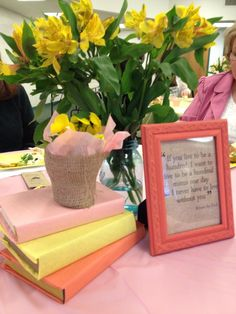 book theme bridal shower - quotes in frames