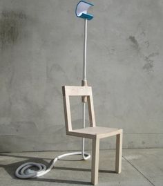 Inspired by a collapsible, wooden, giraffe toy from childhood, the 'Lambent Chair' is designed by Glen Lewis-Steele, New Zealand-based designer, to shed light where you need it. Be it casting a soft light over a room or directing it down onto the fine text of your novel. A glowi #Concept #Floorlamp #Lamp #Lighting #Lightingdesign #Woodlamp #Woodworking