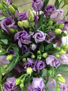 Lisianthus 'Clarice Lavender'...Sold in bunches of 10 stems from the Flowermonger the wholesale floral home delivery service.