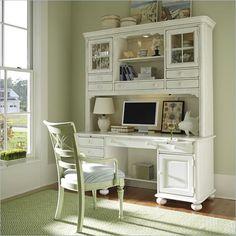 Stanley Coastal Living Desk | Stanley Coastal Living Wood Computer Desk Hutch in Antique White 829