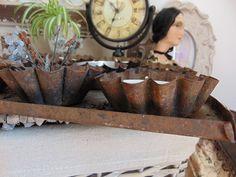 antikes Muffin Backblech mit Teelichter DaWanda