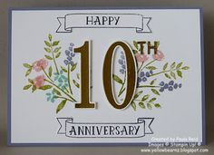 49 Trendy wedding card congratulations quotes stampin up 10th Wedding Anniversary Wishes, Anniversary Message For Boyfriend, Anniversary Cards For Husband, Anniversary Greeting Cards, Anniversary Quotes, Anniversary Scrapbook, Marriage Anniversary, Wedding Congratulations Card, Engagement Cards
