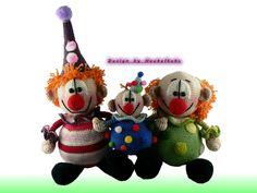 Häkelanleitungen - Die Clowni's -- Häkelanleitung von Haekelkeks - ein Designerstück von Haekelkeks bei DaWanda