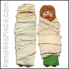 Lazarus Paper Doll Bible Craft for Sunday School from www.daniellesplace.com