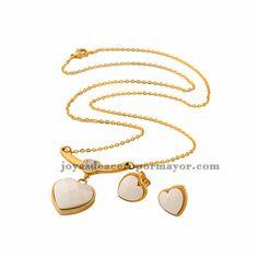 Collares de moda con arete en piedra para mujeres -SSNEG031600