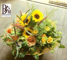 花ギフトのプレゼントBFM 自分は自分、このひまわりのように勇ましく。そんなフラワーアレンジメント