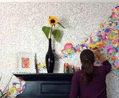 Resultado de imagen para como pintar paredes rusticas
