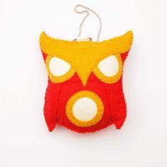 Iron Man Felt Plush Owl Ornament by IamCraftish on Etsy, $20.00