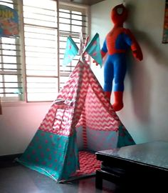 Teepee Tents for Kids Room Girls Tent, Kids Teepee Tent, Play Tents, Teepees, Tent House For Kids, House Tent, Childrens Tent, Tent Sale, Pink Stars