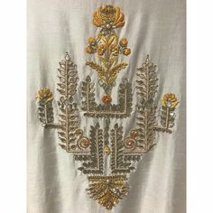Jewellery For Lady - Zardozi Embroidery, Embroidery On Kurtis, Embroidery Neck Designs, Hand Work Embroidery, Gold Embroidery, Hand Embroidery Patterns, Embroidery Stitches, Machine Embroidery, Embroidery Blouses