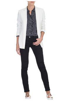 ARMANI JEANS - Blazer elegance - off white - OQVestir