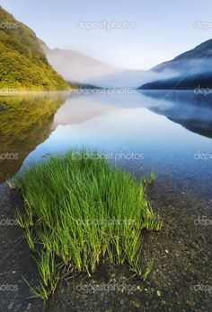 Upper lake in Glendalough Scenic Park, County Wicklow, Ireland