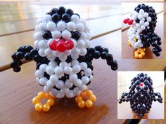 Beaded little penguin3D Beaded Animal Figurine by JajaCreations, $9.99