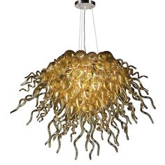 Atheism, Religion, God is Imaginary, Flying Spaghetti Monster. Badass FSM chandelier!! AKA Elixir Polished Chrome 12-Light Chandelier with Amber Glass