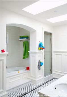 A Nicely Decorated Bathroom For The Children