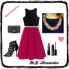 """Midy Skirt"" by mariantyagua on Polyvore"