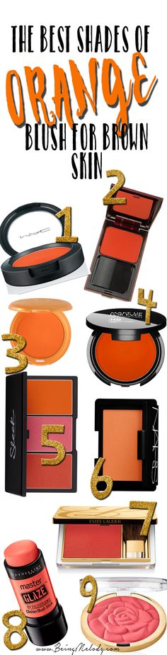 www.beingmelody.com | The Best Shades of Orange Blush for Brown Skin | http://www.beingmelody.com