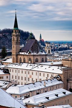 To admire the baroque architecture and subalpine scenery, tourists flock year-round to the birthplace of Mozart - Salzburg, Austria. Oh The Places You'll Go, Places To Travel, Places To Visit, Innsbruck, Hallstatt, Religious Architecture, Baroque Architecture, Kirchen, Travel Photographer