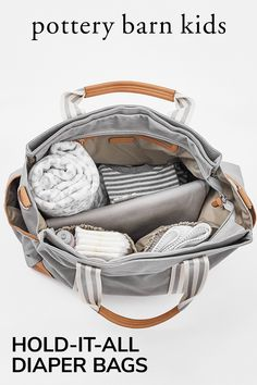 This chic diaper bag is stylish enough to take anywhere. With interior pockets, sturdy straps and a handy changing pad, it can carry everything a parent needs to have at hand.