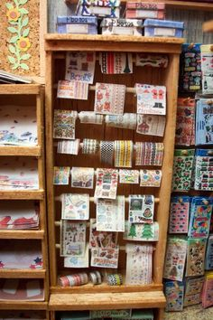 close up of stickers in scrapbook shop
