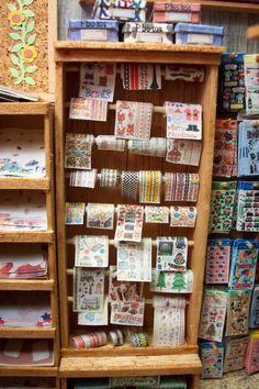close up of stickers in scrapbook shop