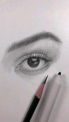 Beautiful Pencil Drawings, Art Drawings Sketches Simple, Pencil Art Drawings, Realistic Drawings, Drawing Art, Drawing Eyes, Horse Drawings, Drawings Of Eyes, Drawing With Pencil