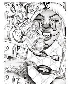 Chicano Tattoos Sleeve, Body Art Tattoos, Crow Tattoos, Phoenix Tattoos, Ear Tattoos, Yakuza Tattoo, Tattoo Design Drawings, Tattoo Sleeve Designs, Tattoo Sketches