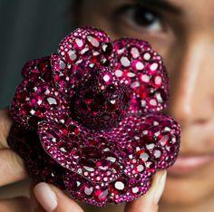 JAR PARIS Camelia of Rubies and Diamonds