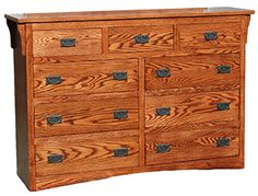 Our American Mission Oak Collection is a beautiful example of traditional Mission furniture showcasing clean lines and a full-grain expression. Mission Furniture, Rustic Furniture, Dresser Drawers, Dressers, Mission Oak, Craftsman Style, Traditional, Clean Lines, American