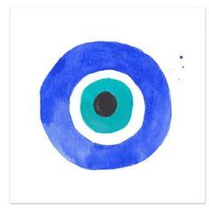 Evil Eye I Watercolor Print - Waiting On Martha
