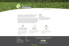 Global Soil Solutions, simple website design, green, white, grey, simple icons, e-commerce website