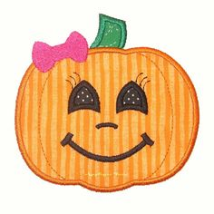 Instant Download Girly Pumpkin Machine Embroidery by AppliqueTime, $2.75