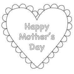 Happy Mothers Day Coloring Pages Free