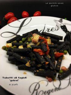 """La pentola senza glutine: Tubetti (di fagioli) """"golosi"""" ai piselli"""