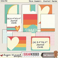 This Summer • Journal Cards | PU • S4H