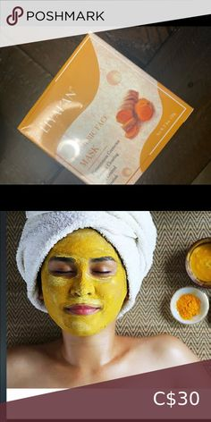 Tumeric face mask Mask that is great for dull skin,rejuvenates skin,clears pores,great for discoloration,and much more Skincare Acne & Blemish Acne And Pimples, Acne Skin, Clear Pores, Clear Skin, The Ordinary Niacinamide, Tumeric Face, Dull Skin, Loose Powder, Korean Skincare