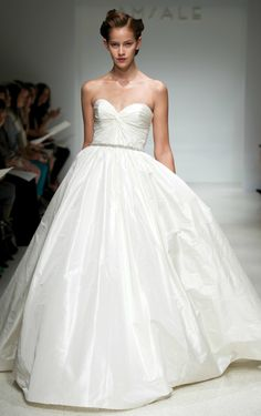 In LOVE with the dramatic ballgown wedding dresses this year!