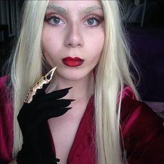 Lady Gaga as Countess Elizabeth from American Horror Story - Hotel (season 5) Cosplay, Fx Makeup