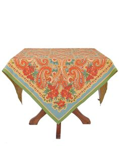 Paris Paisley Tablecloth | Table Linens & Kitchen, Tablecloths :Beautiful Designs by April Cornell