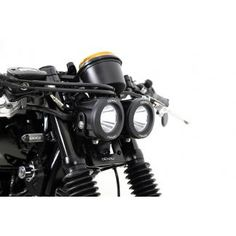 Denali Dual DR1 Headlight Conversion Kit for Triumph Bonneville & Thruxton '04-'15, Includes Turn Signal, Ignition, Rectifier & Horn Relocation Brackets, and DR1 LED Lighting Kit with Mount