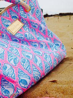 lilly nautical beach bag