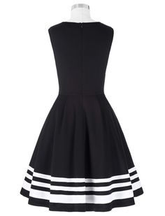 Head Over Heels Black And White Striped Dress